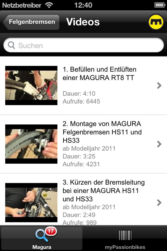 Übersicht Magura Videos und Workshops