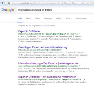 Suchnaschinen Optimierung anhand Google