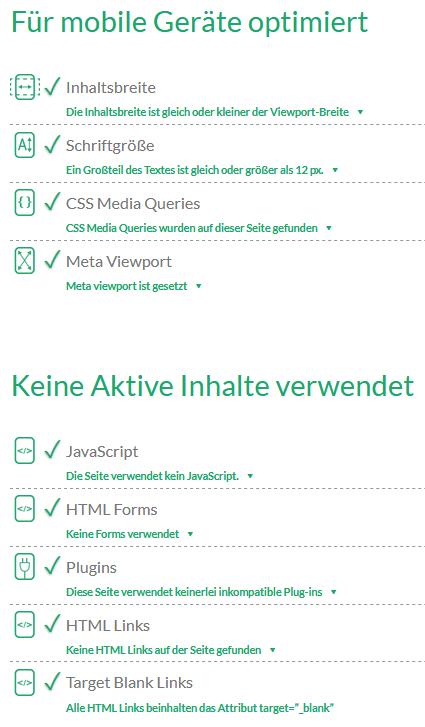 Optimiert für mobile Endgeräte (Tablets und Smartphones) und keine aktiven Inhalte verwendet.